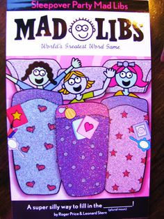 slumber party game or a favor for the girls - Sleepover ideas 💤 Slumber Party Favors, Sleepover Birthday Parties, Girl Sleepover, Slumber Party Games, Carnival Birthday Parties, Spa Party, Teen Parties, Girl Birthday, Birthday Ideas