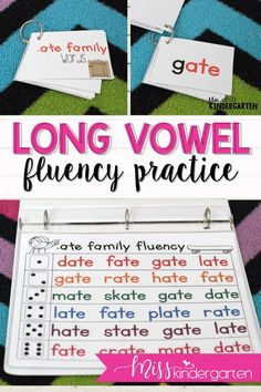 Small groups can practice their reading fluency with these long vowel passages. They make for great center activities or for struggling readers to practice their phonics. #kindergarten #ideas #learning #vowels