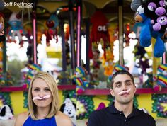 Wanted to share...Engagement pictures at the fair! Fun and colorful!