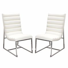 Bardot 2-Pack Dining Chair w/ Stainless Steel Frame by Diamond Sofa - White