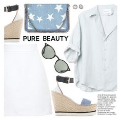 """""""Pure Beauty"""" by pokadoll ❤ liked on Polyvore featuring Dolce&Gabbana, STELLA McCARTNEY, Ray-Ban, Michael Kors, polyvoreeditorial, polyvorefashion and polyvoreset"""