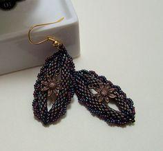 "Peyote stitch seed bead ""Ephiphany"" Earrings"