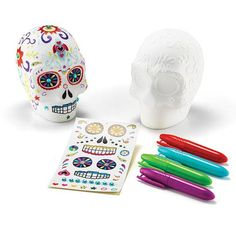 Make Your Own Decorative Sugar Skull Kit Skeleton crew! Dating back to the 18th century Mexico, brightly decorated sugar skulls were said to encourage the return of a departed spirit. Keep the tradition alive this year by decorating your own with these easy ideas: AvonRep shirlean walker