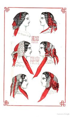 1859 Godey's Magazine -civil war era fashion head coverings