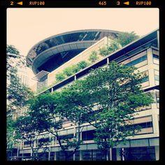 The spaceship has landed - #italiansinsingapore #italianiasingapore #singapore #asia #holiday #trip #viaggio #vacanze #expat #expatriate #explore #espatriati #city #citta #architecture #design #cbd #green #tree