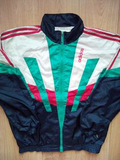 premium selection fbe23 e18a5 Adidas Originals 90 s Vintage Mens Nylon Tracksuit Top jacket in Clothing,  Shoes  amp  Accessories