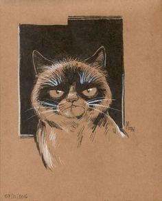 Gatos de Instagram (Set I) por mepol - Animales | Dibujando.net