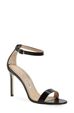 Free shipping and returns on Manolo Blahnik 'Chaos' Ankle Strap Sandal (Women) at Nordstrom.com. With its pared-down lines and slim, signature heel, Manolo Blahnik's ankle-strap Chaos sandal is the epitome of minimalist elegance.