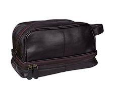 Dopp Kit Designer Leather Toiletry Gift Bag Vintage Classic Travel Shaving Kit