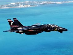 "The famous black U.S. Navy ""Playboy Bunny"" Grumman F-14 Tomcat, Vandy-1 of the VX-09 ""Vampires"" squadron, one of the Navy's Naval Air Systems Command Test and Evaluation Squadrons."