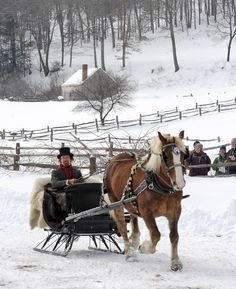 With the recent snowfall, the folks at Old Sturbridge Village are back on track to host the Antique Sleigh Rally this Saturday, 2/16!