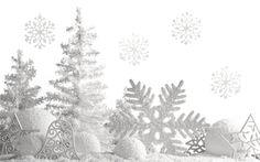 Download wallpapers White Christmas decoration, snow, snowflakes, silver Christmas balls, New Year