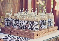 Safari party party favors Vintage tea sets and china. Rapunzel + Tangled Art Party with tons of cute ideas! - Kara's Party Ideas - The Place. Zebra Party, Safari Party, Jungle Theme Parties, Jungle Party, Safari Wedding, Safari Chic, Birthday Party Celebration, 3rd Birthday Parties, Zoo Birthday