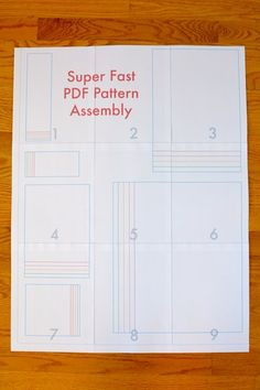 crafterhours superfast PDF pattern assembly09