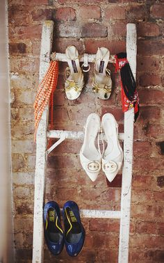 Turn Ladders Into Shoe Racks