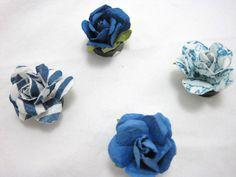 Blue Rose Magnet setSet of 6 by GoosesGoldenEggs on Etsy
