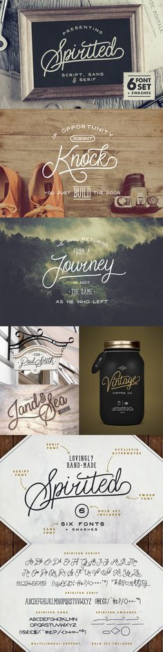 Spirited Font Set by Set Sail Studios is a free hand-drawn typeface set including six lovingly hand-made fonts. Lettering Design, Branding Design, Logo Design, Graphic Design, Web Design, Retro Design, Calligraphy Letters, Typography Letters, Typography Inspiration