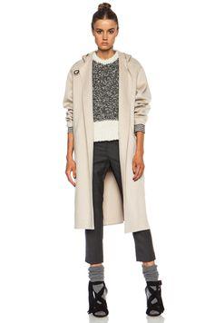 Isabel Marant|Hacene Double Face Wool-Blend Coat in Beige