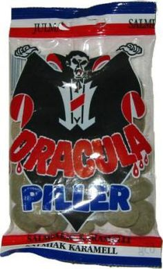 Dracula Piller salmiakkipastilli 65 g G 1, Dracula, Candy, My Love, Food, Collections, Caramel, Essen, Bram Stoker's Dracula