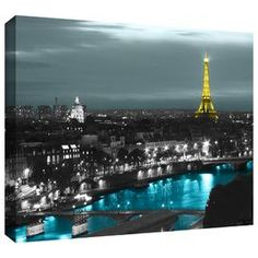 """""""Paris"""" by Revolver Ocelot Graphic Art on Wrapped Canvas"""