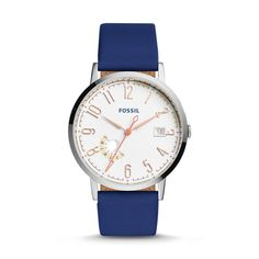 Vintage Muse Indigo-Dyed Leather Watch