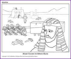 Coloring (Moses Concern for Hebrew Slaves) - Kids Korner - BibleWise