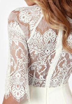 Lace Raglan Sleeve Dress- Unlined Lace Raglan Sleeve Dress