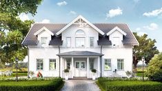 Husmodellen Spoven fra Fiskarhedenvillan New England Hus, England Houses, Home Fashion, Curb Appeal, Home Projects, Sweet Home, Villa, House Ideas, Cottage
