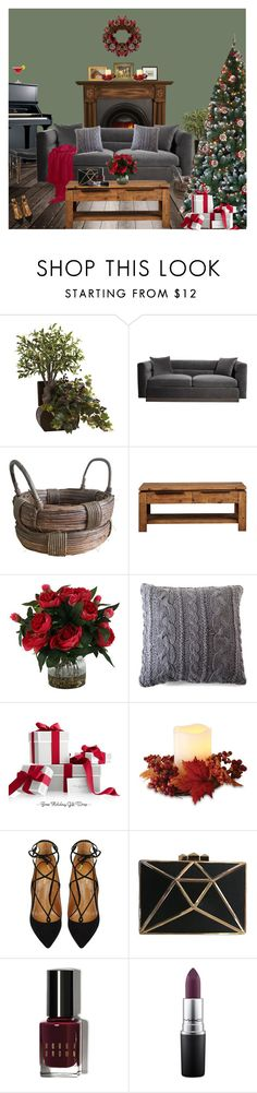 """""""Red and Green"""" by marijana71 ❤ liked on Polyvore featuring interior, interiors, interior design, home, home decor, interior decorating, Pom Pom at Home, Order Home Collection, Aquazzura and Bobbi Brown Cosmetics"""