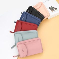 2020 New Women Casual Wallet Brand Cell Phone Wallet Big Card Holders Wallet Handbag Purse Clutch Messenger Shoulder Straps Bag Crossbody Wallet, Small Crossbody Bag, Purse Wallet, Leather Wallet, Diy Bags Purses, Purses And Handbags, Mini Pochette, Cell Phone Wallet, Shoulder Strap Bag