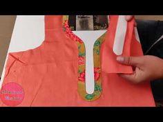 Trendy Neck Design // Latest Stylish Front Neck Design Cutting and Stitching – dressideas Chudithar Neck Designs, Salwar Neck Designs, Kurta Neck Design, Neck Designs For Suits, Neckline Designs, Blouse Neck Designs, Sleeve Designs, Churidhar Designs, Collar Pattern