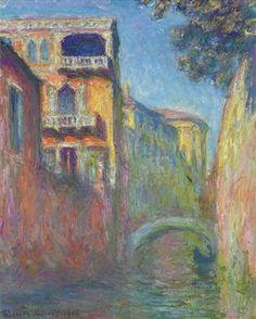 Venice, Rio de Santa Salute - Claude Monet