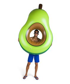 $16.99 marked down from $24.99! Avocado Pool Float #avocado #pool #float #zulilyfinds