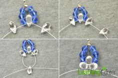 Make the lotus flower pendants for the blue crystal necklace