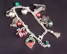 Christmas Charm Bracelet  Adults by DaisysCrystals on Etsy, $22.50