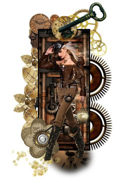 """""""Steampunk Doll Bookmark #2"""" by shape-shifter ❤ liked on Polyvore"""