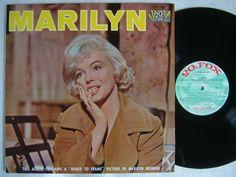 """Marilyn"" - Marilyn Monroe 12"" vinyl LP, laminated gatefold sleeve, 20th Century Fox, Japan, 1960's."