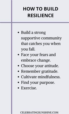 These are some of the tips you can try incorporating into your daily routine to build and strengthen your resilience. Self Development, Personal Development, How To Build Resilience, Positive Living, Finding Happiness, Self Improvement Tips, Mindful Living, Life Purpose, Negative Thoughts