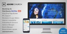 Download and review of Adore Church - Responsive WordPress Theme, one of the best Themeforest Non-profit themes {Download & review at|Review and download at} {|-> }http://best-wordpress-theme.net/adore-church-responsive-download-review/