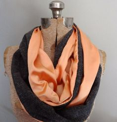 Comfy Fall infinity scarf made with vintage fabrics by PaleDesign, $25.00