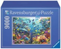 Underwater Paradise - 9000 Piece #Puzzle! Since 1891 we've been making the finest puzzles in #Ravensburg, #Germany. It's our attention to detail which makes Ravensburger the world's greatest puzzle brand. We use an exclusively developed, extra-thick cardboard and combine this with our fine, linen-structured paper to create a glare-free puzzle image for a quality you can feel. Our steel cutting tools are designed and crafted by hand.