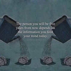You are the books you read, the movies you watch, the music you listen to, the people you spend time with, the conversations you engage in. Choose wisely what you feed your mind. - When you are conscious about the kind of information you allow into your world, it's only a matter of time before your reality reflects your improved quality of thought. #FeedYourMindGoodStuff --- Photo © copyright owner