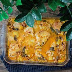 Kutsu vapauteen: Pähkinäinen kookos-ananas-kanapata Macaroni And Cheese, Tacos, Curry, Mexican, Ethnic Recipes, Food, Pineapple, Mac And Cheese, Curries