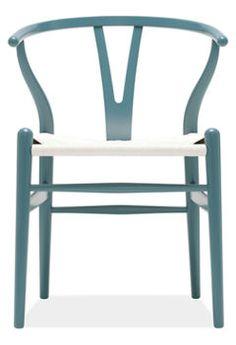 Wegner Wishbone Chair color:Baltic blue Stocked Item $855.00