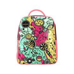 Comic Doodle Illustration in Colour Popular Backpack (Model Popular Backpacks, Vera Bradley Backpack, Doodles, Colour, Comics, Illustration, Model, Bags, Accessories