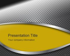 Yellow Metal Panel PowerPoint Template