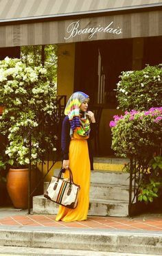 Statement purple maxi dress paired with neutral toned and gold toned accessories. Related PostsColour Shade of Black Hijab for Dark Skin ToneStylish Hijab Black Dresses Collection 2017Stylish collection of Abaya trend 2017latest hijab outfit styles 2016 2017Cute Jilbab Style Fashion Ideas for 2016Simple step step ways to Hijab Outfit Ideas Related