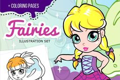 Cartoon fairies illustrations set Graphics Do you like fairies? As for me I like them very much! That's why I want to introduce you my fairies by SunnyWS