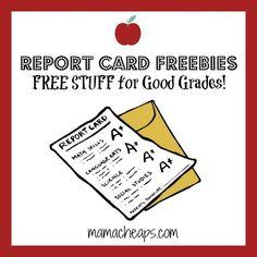 Report Card Freebies – FREE STUFF for Good Grades!