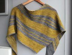 Bryum - un châle bicolore - tricot - Modèles de tricot chez Makerist